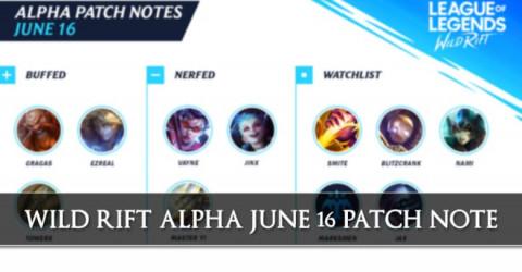 League of Legends Wild Rift Alpha Patch Notes