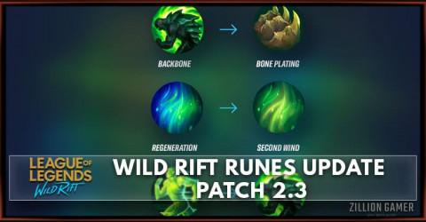 Wild Rift Runes Update   Patch 2.3