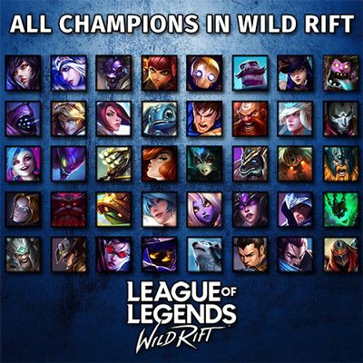 LoL Wild Rift All 41Champion - zilliongamer