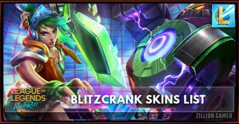 Blitzcrank Skins List in Wild Rift