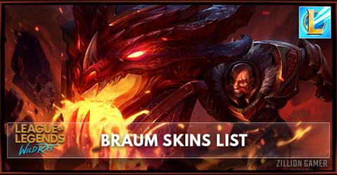 Braum Skins List in Wild Rift