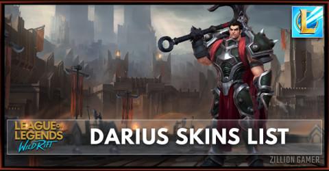 Darius Skins List in Wild Rift
