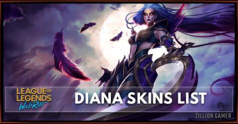 Diana Skins List in Wild Rift