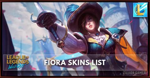 Fiora Skins List in Wild Rift