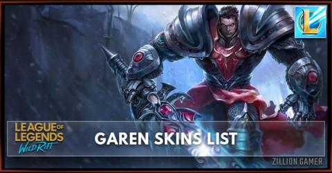 Garen Skins List in Wild Rift