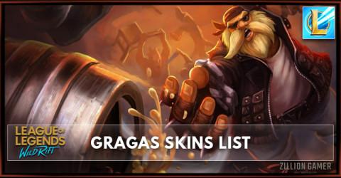 Gragas Skins List in Wild Rift