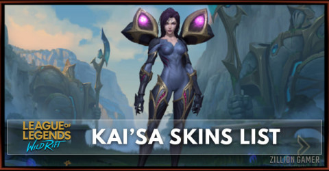 Kai'Sa Skins List in Wild Rift