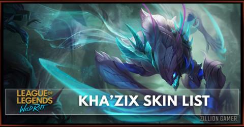 Kha'Zix Skins List in Wild Rift