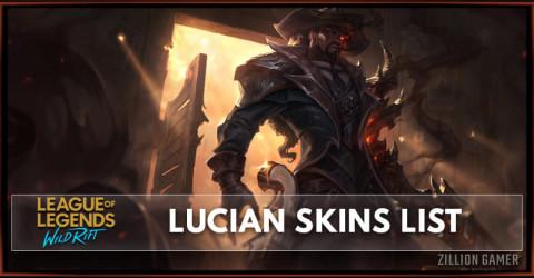 Lucian Skins List in Wild Rift