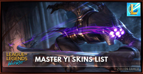 Master Yi Skins List in Wild Rift