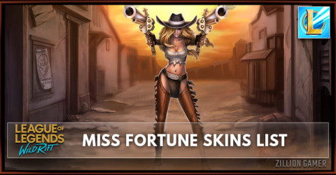 Miss Fortune Skins List in Wild Rift
