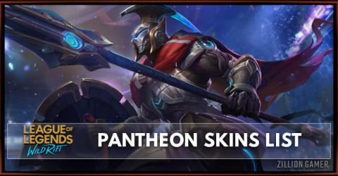 Pantheon Skins List in Wild Rift