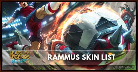 Rammus Skins List in Wild Rift