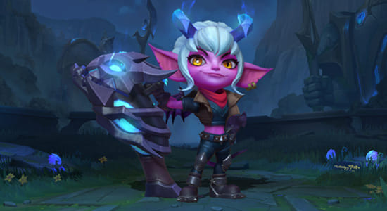 League of Legends Wild Rift Little Demon Tristana skins - zilliongamer