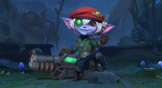 League of Legends Wild Rift Omega Squad Tristana skins - zilliongamer