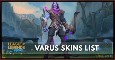 Varus Skins List in Wild Rift