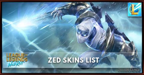 Zed Skins List in Wild Rift
