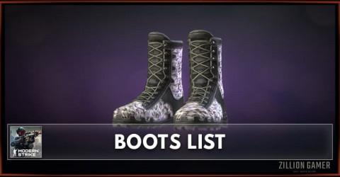 Modern Strike Online Boots List