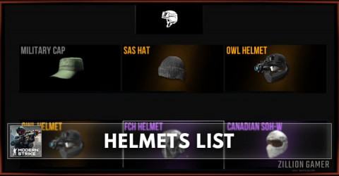 Modern Strike Online Helmets List