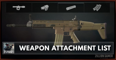 Modern Strike Online Weapon Attachment List