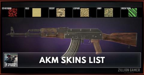 Modern Strike Online AKM Skins List