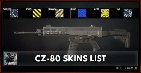 Modern Strike Online CZ 80 Skins List