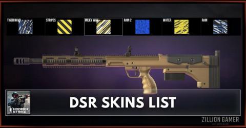Modern Strike Online DSR Skins List