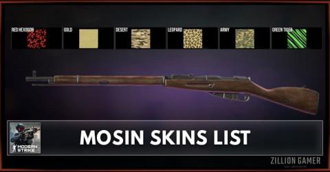 Modern Strike Online Mosin Skins List