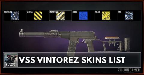 Modern Strike Online VSS Vintorez Skins List
