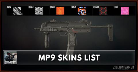 Modern Strike Online MP9 Skins List
