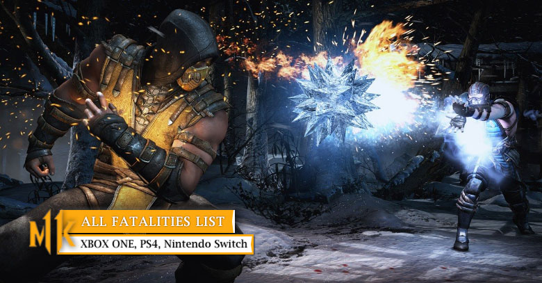 All Fatalities Input Control List In Mk11 Ps4 Xbox One Switch