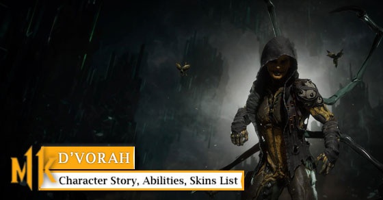 Get to know D'vorah with her story, abilities, & skins