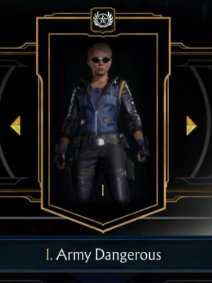 Army Dangerous - Default Sonya Blade in Mortal Kombat 11