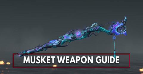 Naraka Bladepoint: Musket Stats, SoulJades, & Skins List