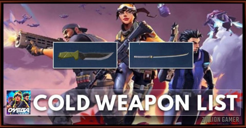 Omega Legends Cold Weapon List