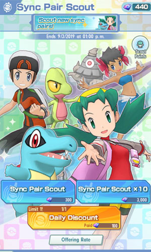 Sync Pair Scout in Pokemon Masters - zilliongamer