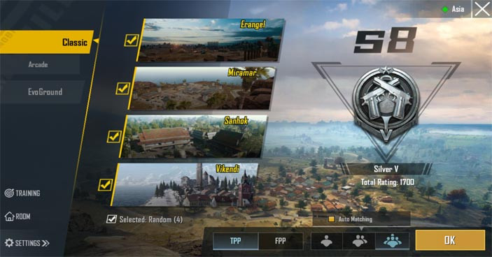 PUBG Mobile new user interface: Map Pick - zilliongamer