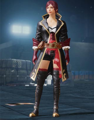 Black Rose Set Female Front View | PUBG MOBILE - zilliongamer
