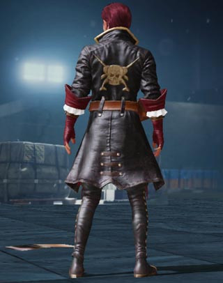 Black Rose Set Male Back View | PUBG MOBILE - zilliongamer