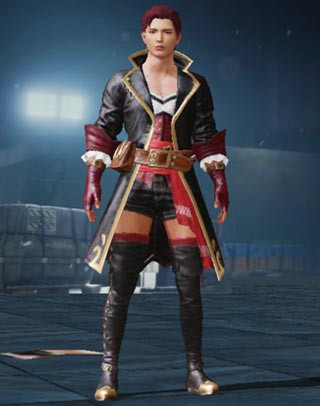 Black Rose Set Male Front View | PUBG MOBILE - zilliongamer