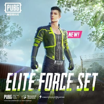 PUBG Mobile Skin Showcase: Elite Force Set