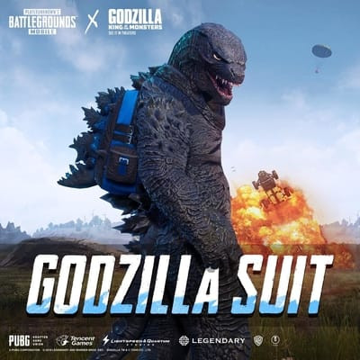 Preview the skin - Godzilla Suit in PUBG MOBILE from front to back here.