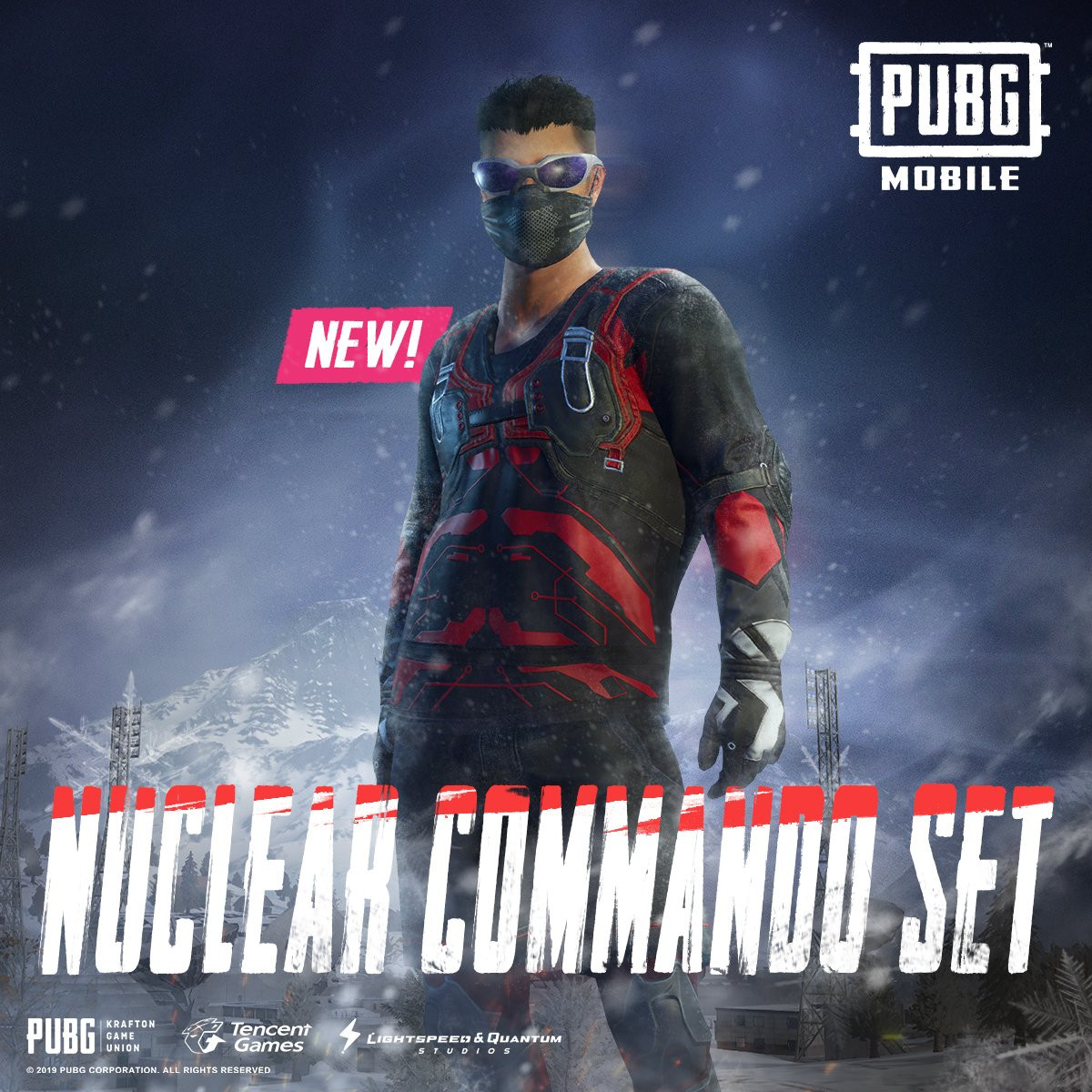 Preview the skin - Nuclear Commando Set in PUBG MOBILE from front to back here.