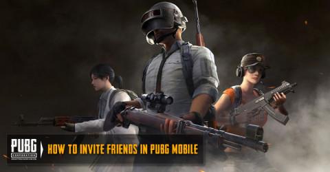 How to invite friends in PUBG MOBILE?