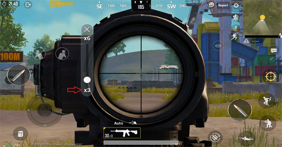 6x Scope zoom out | PUBG MOBILE - zilliongamer