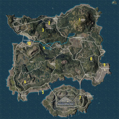 Treasure of the seven sea Compass Location | PUBG MOBILE - zilliongamer