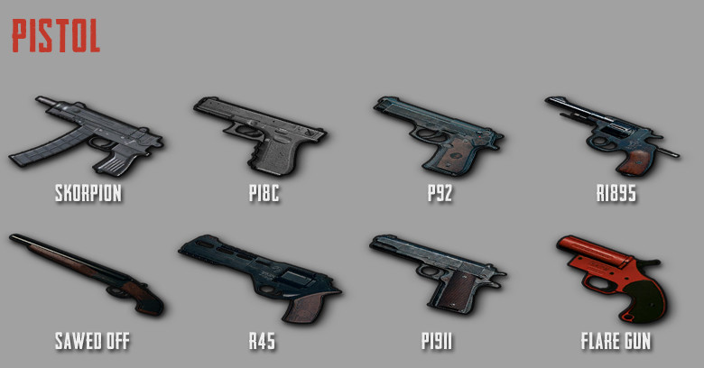 PUBG Mobile Weapon Stats: Pistol - zilliongamer