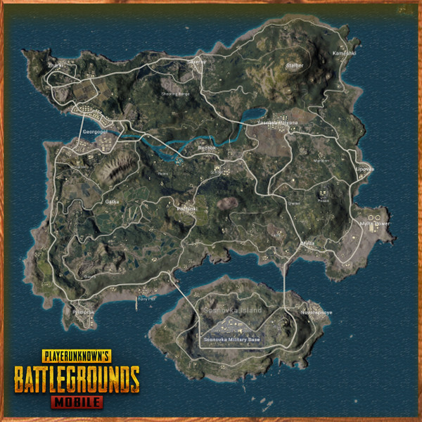 Erangle Map | Pubg Mobile - zilliongamer your game guide