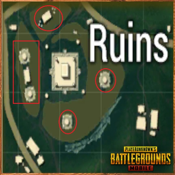 Ruins statue around middle temple | PUBG MOBILE - zilliongamer your game guide
