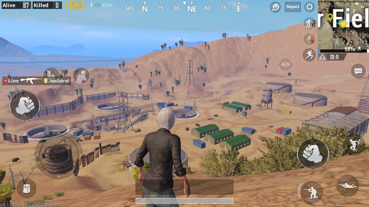 Top View of Right Side in Crater Fields | PUBG MOBILE - zilliongamer your game guide